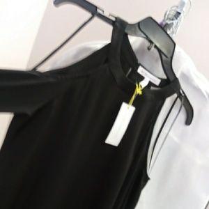 Bcbgeneration black cold shoulder top